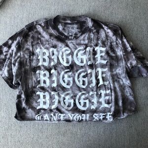 Urban Outfitters Biggie Crop Tie Dye Shirt